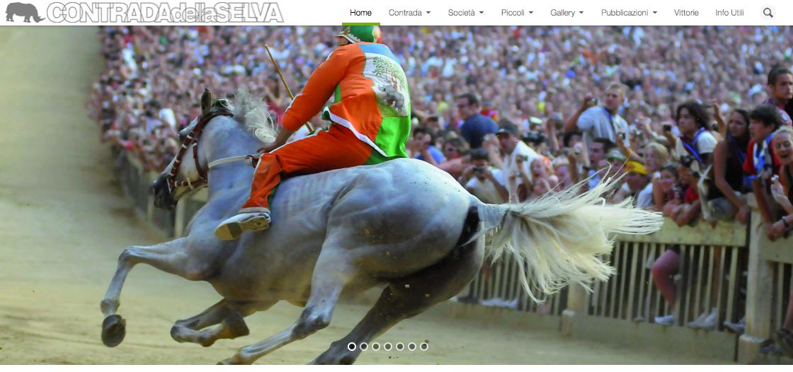 Homepage sito web Contrada della Selva