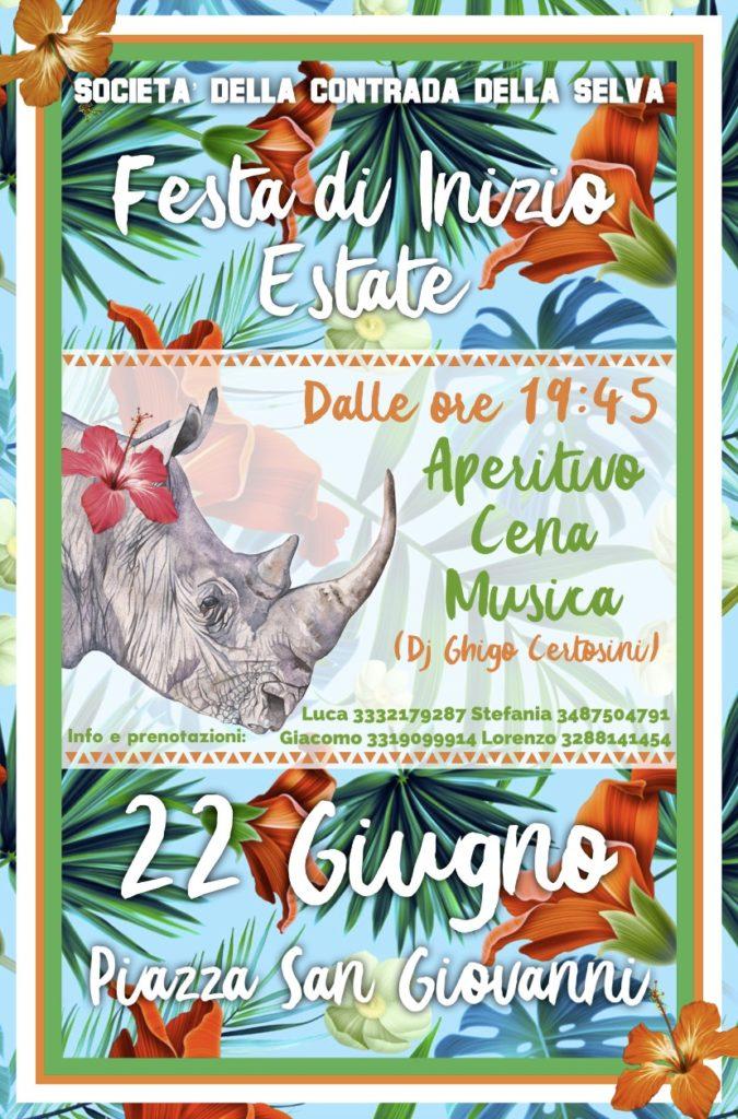 Festa di Inizio Estate Contrada della selva Selva 22 giugno 2018
